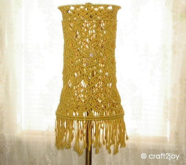 Желтый абажур для торшера