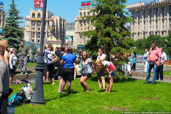 Последний звонок 2011, Киев, Майдан