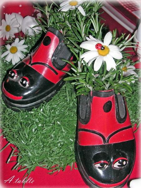 Поделки для сада, дачи и огорода из старой обуви - m