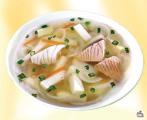 Уха из осетровых рыб Для рецепта Вам потребуются: - бульон рыбный - 400г...