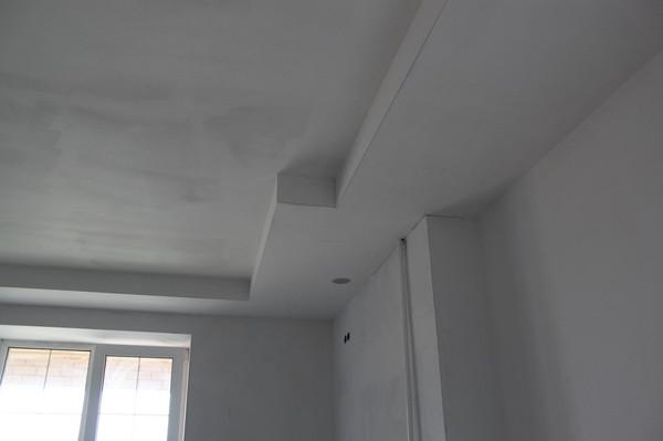 шпатлевка потолка и стен из гипсокартона