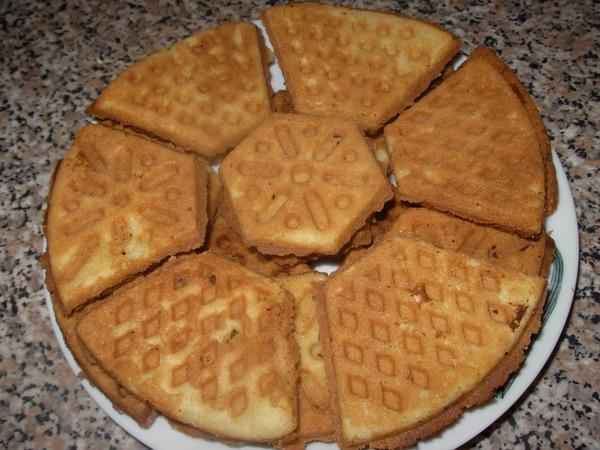 Рецепт орешков и печенья в формах на газу
