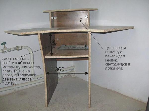 Как сделать простой стол для компьютера