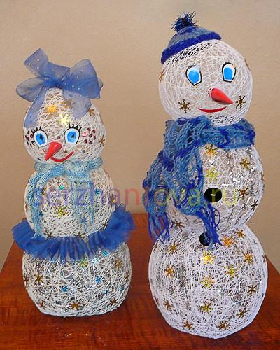 Новогодние поделки снеговик для