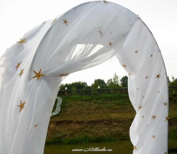 А это наша арка для венчания