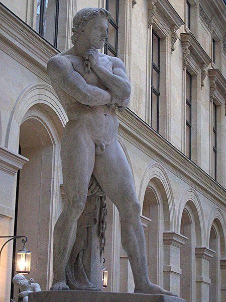 Спартак французская скульптура лувр