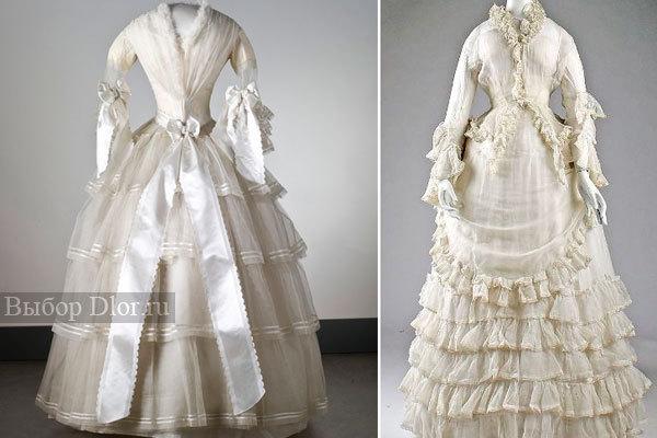 Свадебное платье, 1854 г.; из коллекции музея Северных стран(Nordiska