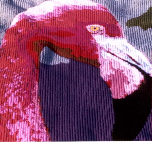 """...свой собственный способ вязания картин, который назвал  """"Вязание крючком по номерам """" (Crocheting by numbers) ."""
