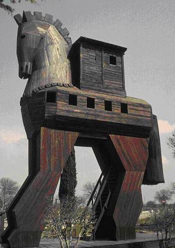Деревянный конь из Чанаккале (Турция). Символическая реконструкция.