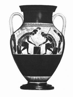 Эксекий, амфора из Вульчи, (Рим, Ватикан, ок. 530 г. до н.э.)