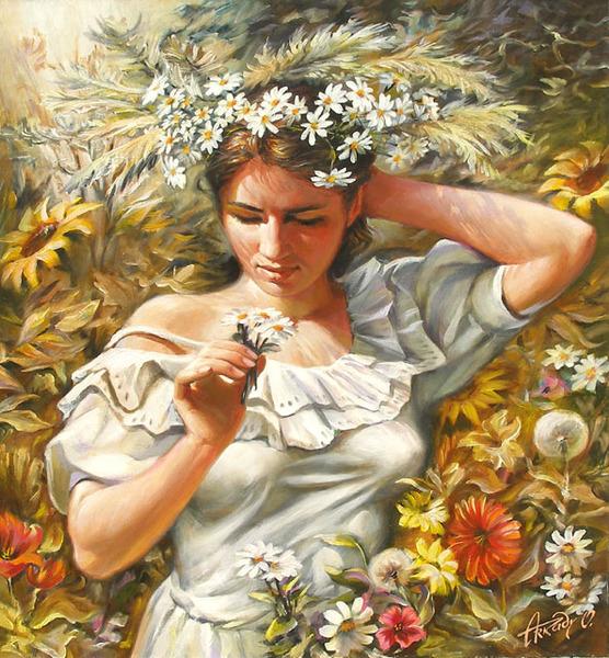 Девушки, цветы и кафешки от Arkady Ostritsky (133 работ) .