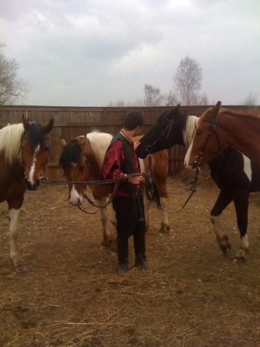 Ираклий на лошадях