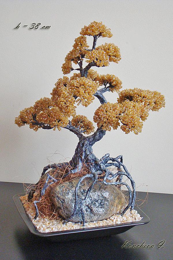 Бисерные Бонсаи.  Радуйте себя и украшайте свой интерьер необычными вещами ручной работы из бисера.