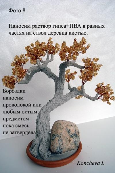 Мастер класс по изготовления деревьев из бисера