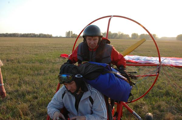 Первый в Сибири прыжок с парапланом... I-188