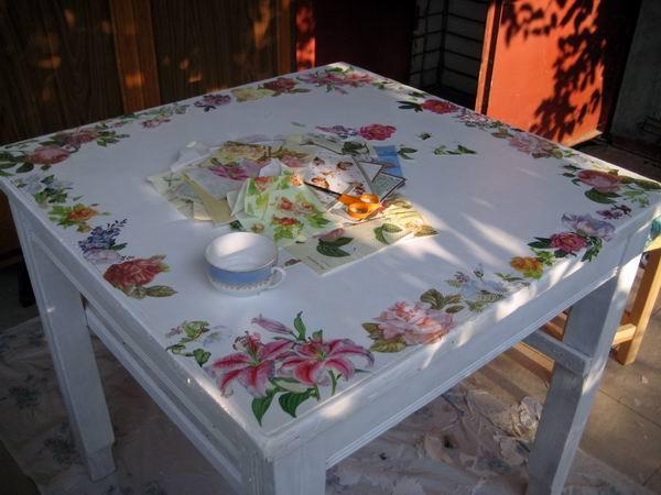 Как обновить старый стол своими руками фото