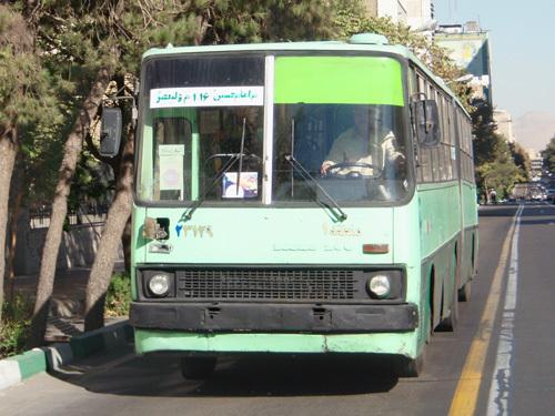 В центре Тегерана можно встретить множество привычных для нас «Икарусов»
