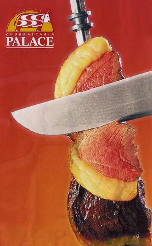 Реклама ресторана «Churrascaria Palace»