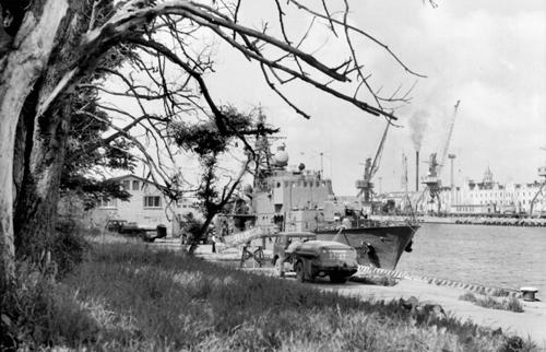 Вентспилский порт в 1988 году