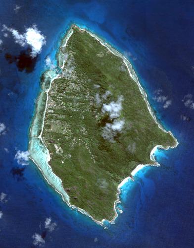 Вид на остров Ла-Диг из космоса