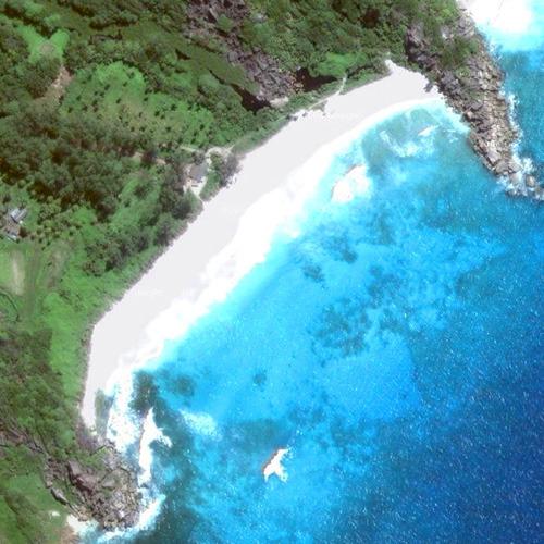 Вид на залив Гран из космоса