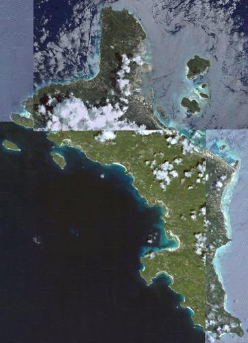 Вид на остров Маэ из космоса