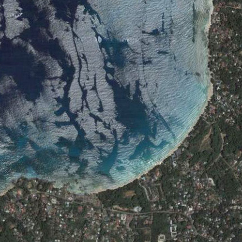 Вид на залив Бо Валлон из космоса