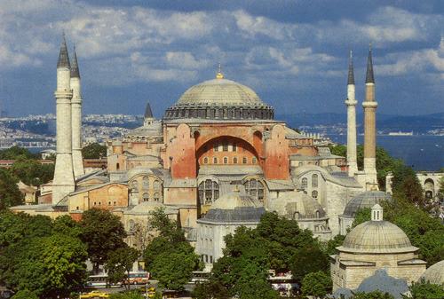 Вид на Айя-Софию (с открытки, купленной в Стамбуле)