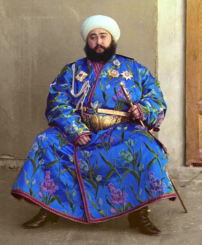 Из серии ''Узбекские портреты''. Эмир Бухары Мухаммед Алим Хан (фото начала ХХ века).