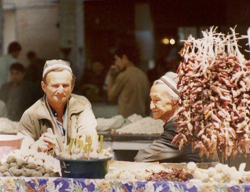 Из серии ''Узбекские портреты''. На рынке в Самарканде.
