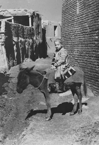 Из серии ''Узбекские портреты''. На улице в Самарканде (фото начала ХХ века).