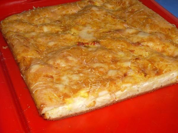 Пирог с сыром и творогом - Кулинарные рецепты