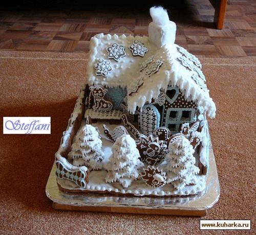 Домики новогодние своими руками из картона фото 764