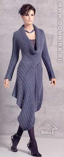 Схема вязания сексуального элегантного платья крючком