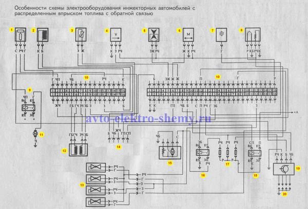 схема проводки ваз 2114