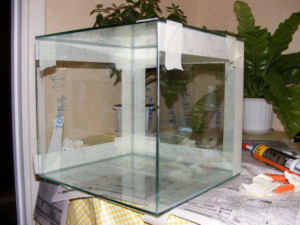 Аквариум своими руками в домашних условиях из стекла 44