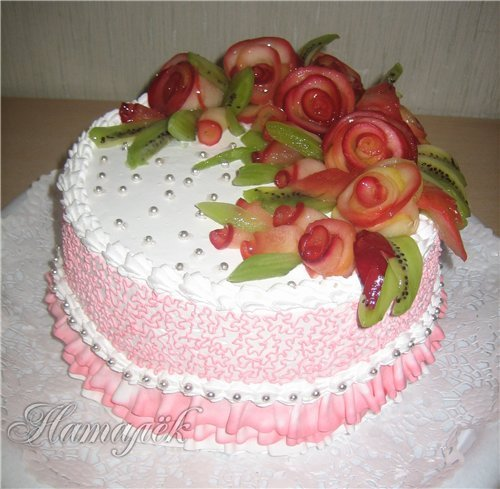 Украшение на торт из фруктов своими руками фото