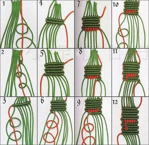 Схема фенечки нирвана.