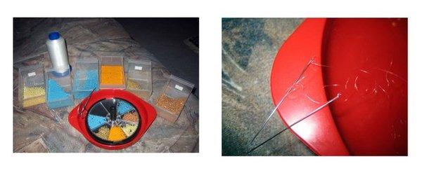 Для работы используется мононить, мелкий бисер (чешский) 10-11.  Тоненькие иглы для бисера, ушко которых не должно...