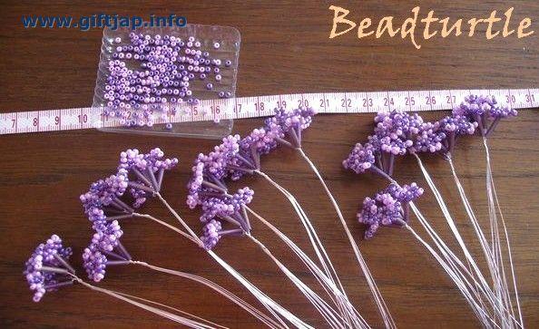 Букет цветов - поделки из бисера, мастер класс по бисероплетению для...