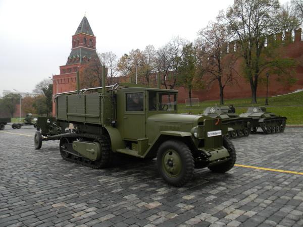 Полугусеничный грузовик (артиллерийский тягач) ЗИС-42М