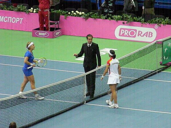 Исход матча решился во встрече Светланы Кузнецовой и Сильвии Солер-Эспиноса