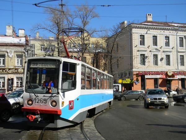 Трамвай на Чистопрудном бульваре