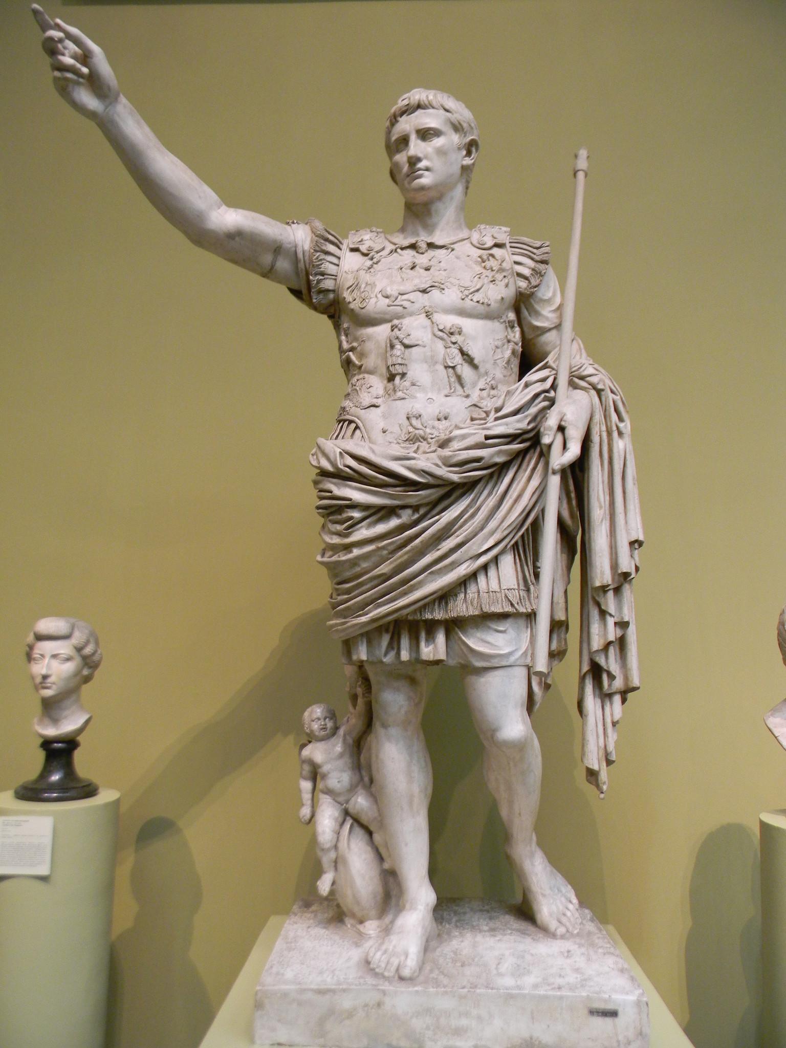 Статуя Августа из Прима-Порта (последняя четверть I века до н.э.)