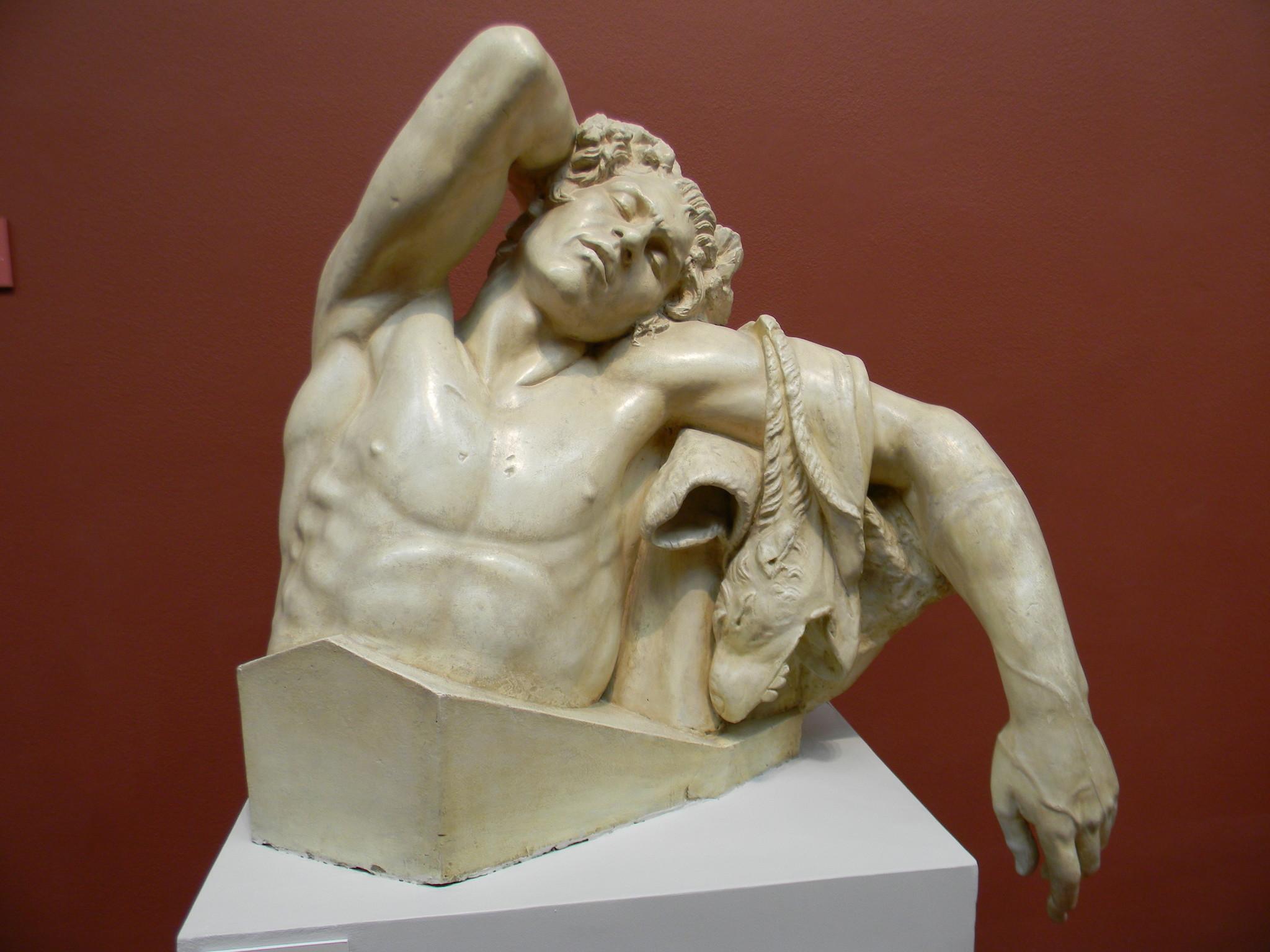 Спящий Сатир, так называемый Фавн Барберини