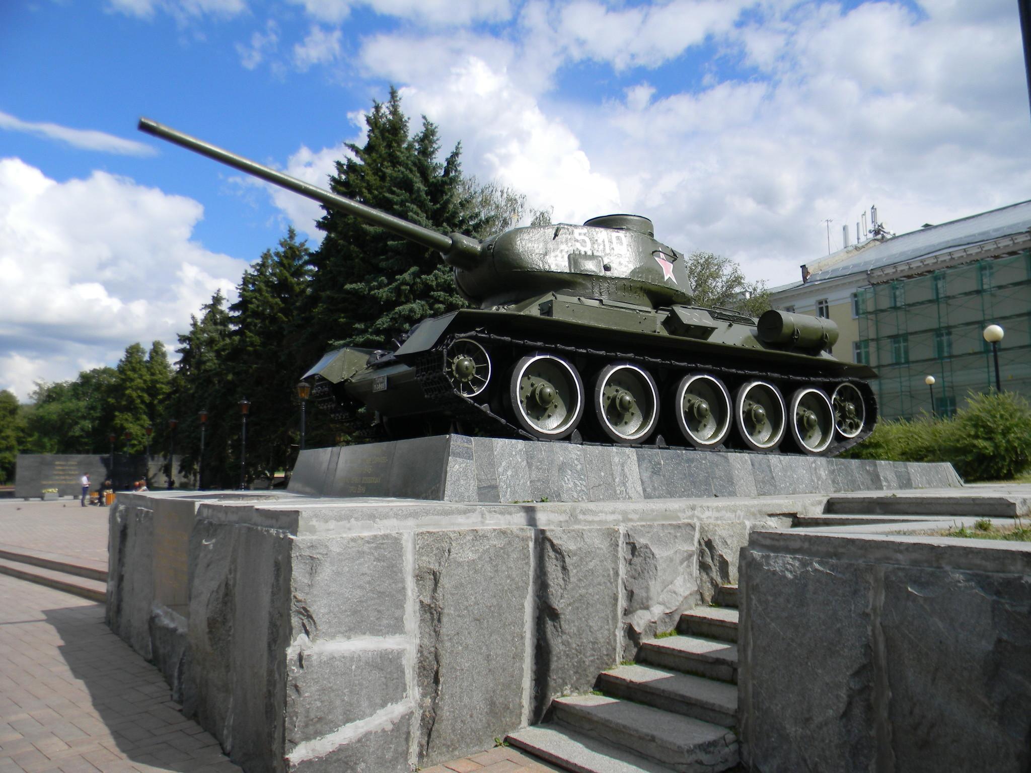Танк Т-34 один из первых освобождал город Вену