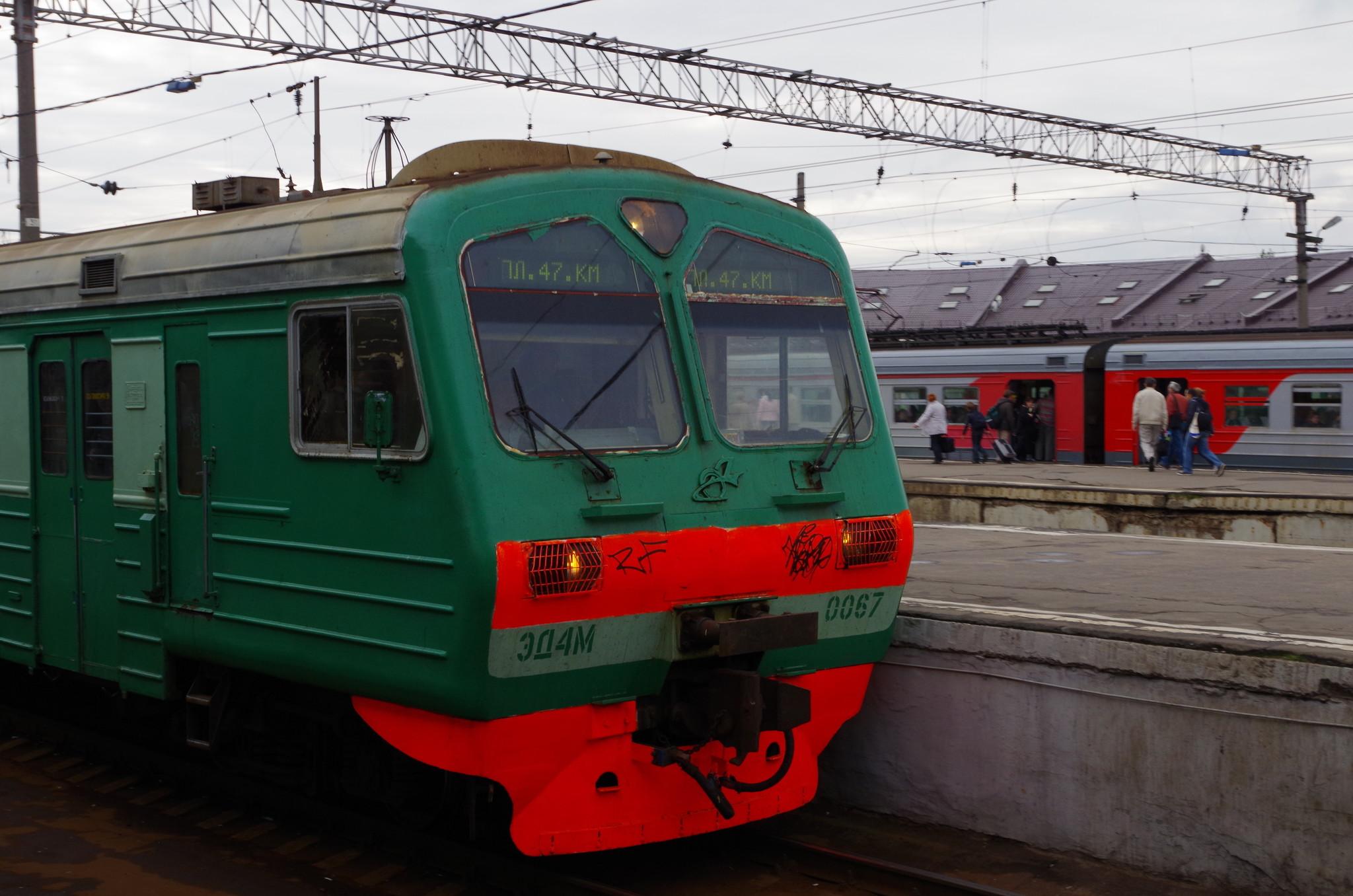 Электропоезд ЭД4М на Казанском вокзале