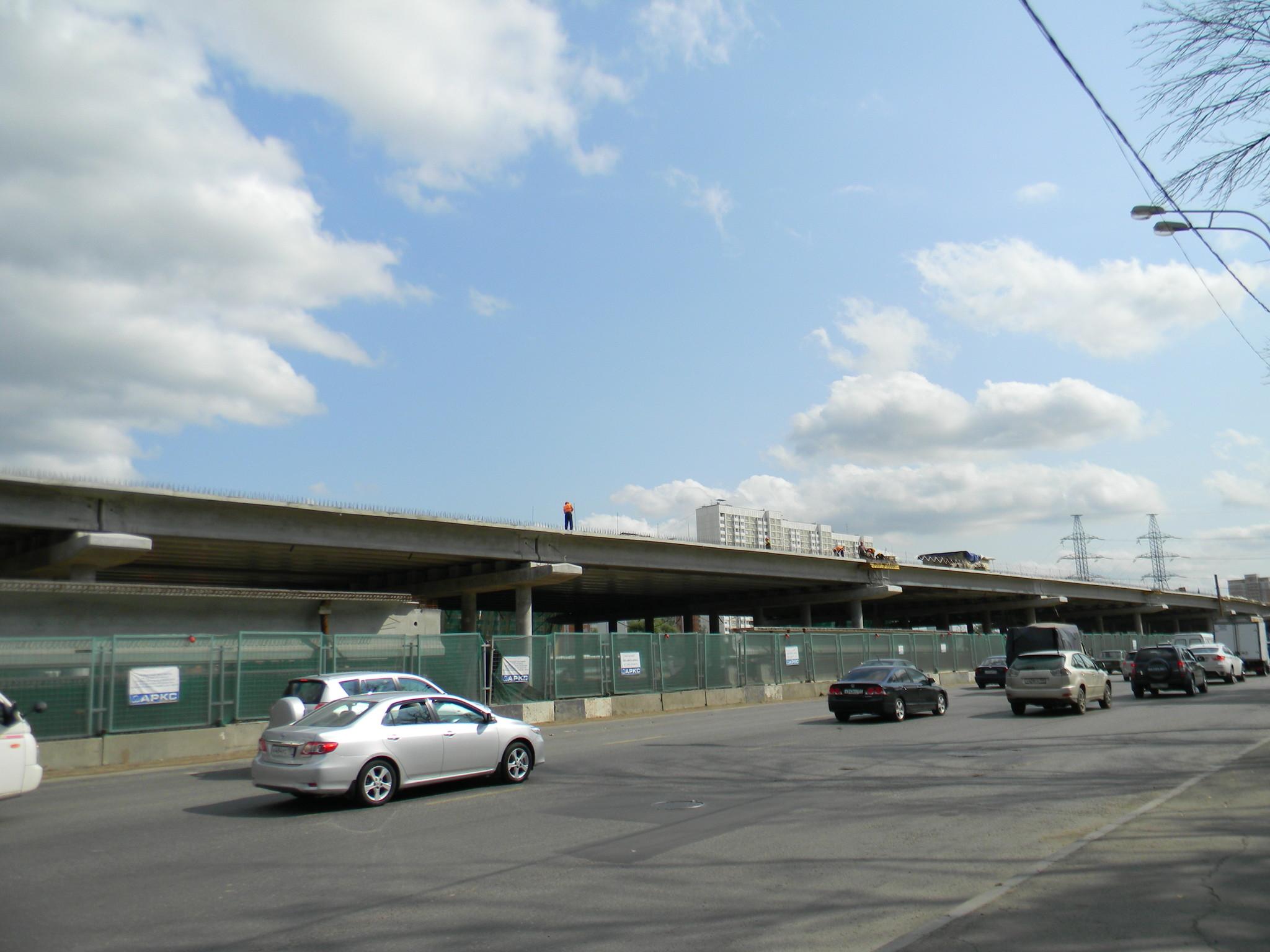 Развязка на пересечении Дмитровского шоссе с Долгопрудненским шоссе