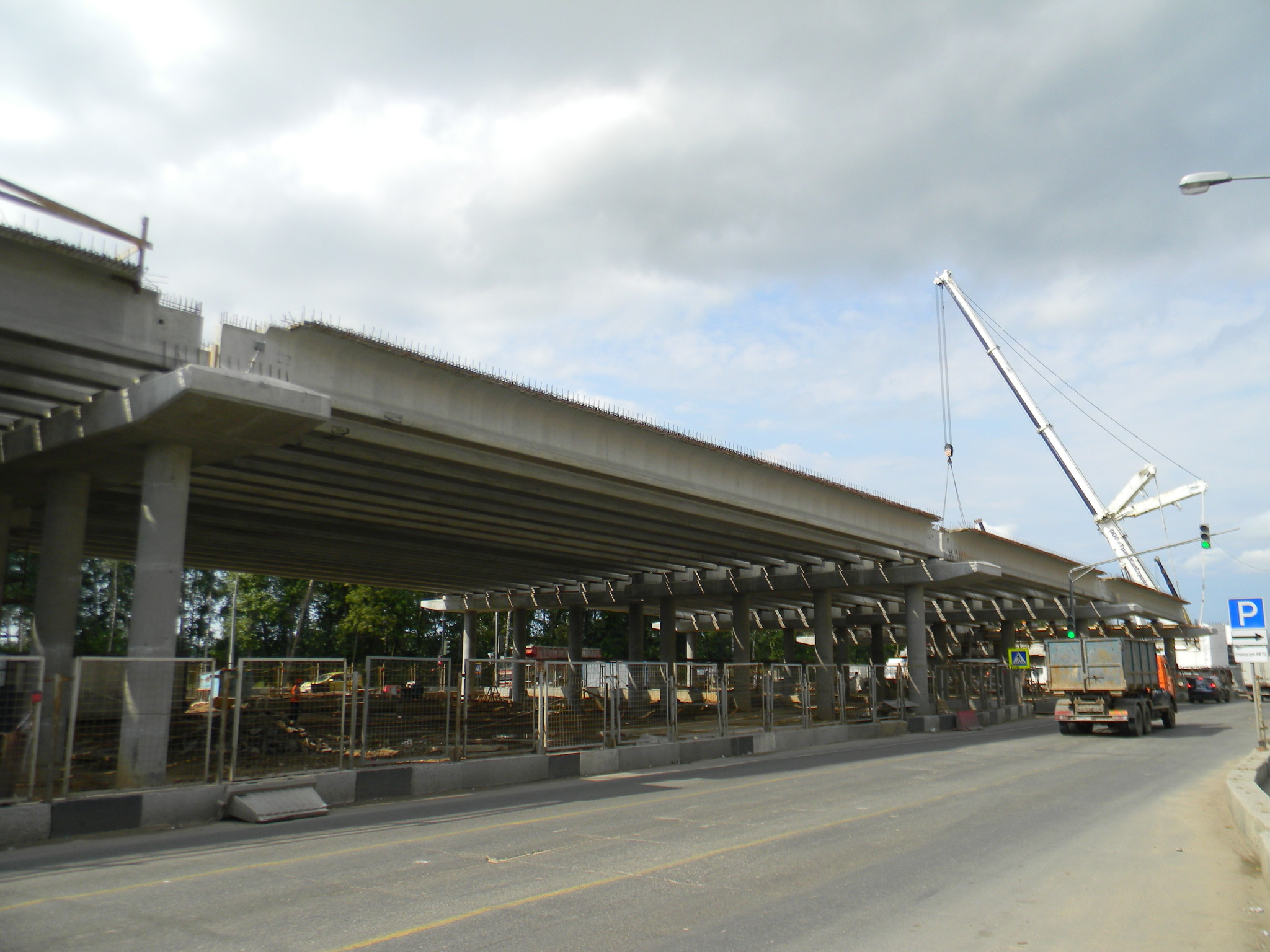 Строительство развязки на Дмитровском шоссе в 4-м микрорайоне Северного