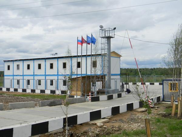 Штаб строительных работ размещён рядом с 9-м микрорайоном